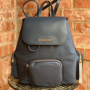 NWT Michael Kors Large Abbey Cargo Backpack Nylon